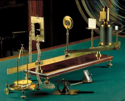 The entire apparatus as kept at the Museum of Physics in Naple (courtesy Museo di Fisica)